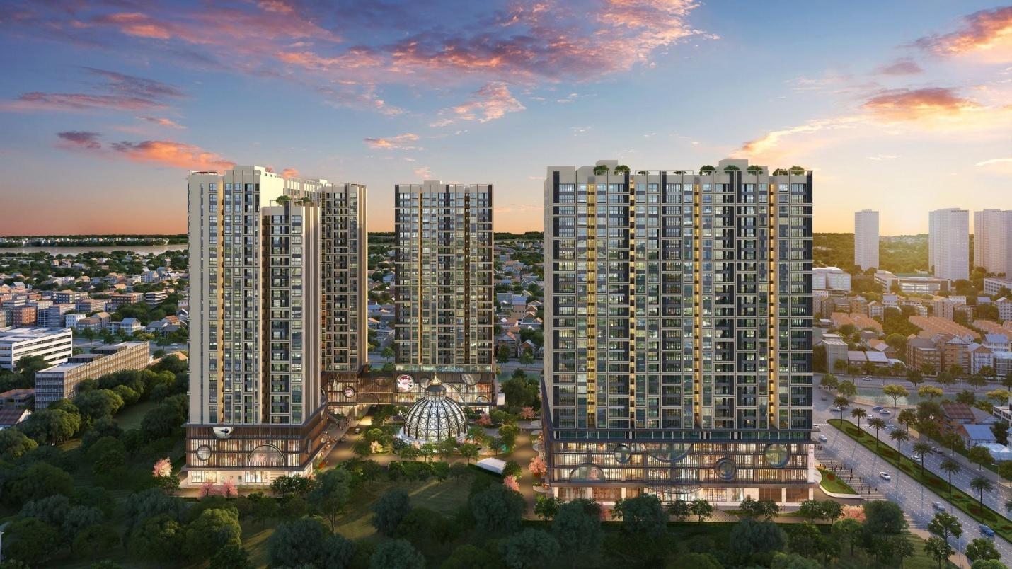 Hinode City thiết kế 3 tòa tháp thông minh đáp ứng tầm nhìn rộng thoáng và riêng tư cho gia chủ