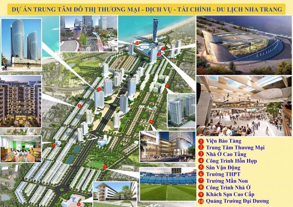Khu trung tâm đô thị thương mại - Dịch vụ - Tài chính - Du lịch Nha Trang.