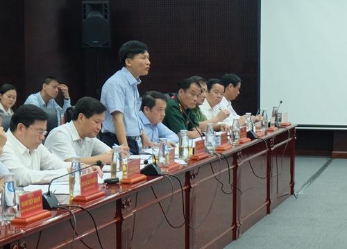 Tổng thanh tra CP Lê Minh Khái phát biểu tại cuộc họp