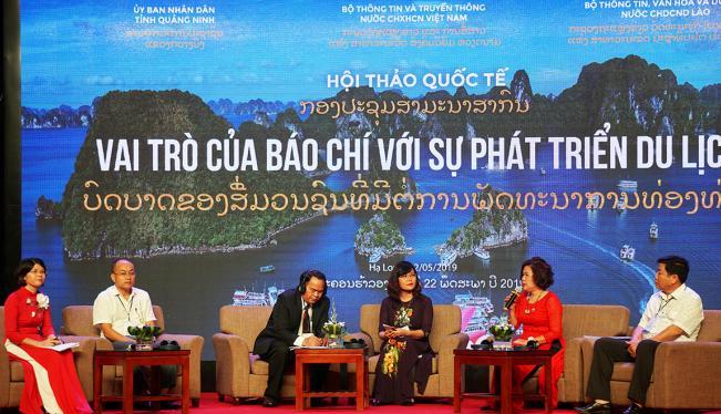 Các đại biểu tham luận trong Hội thảo Quốc tế về