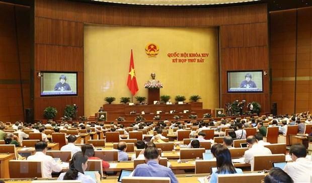 Quang cảnh phiên họp của Quốc hội. (Ảnh: Doãn Tấn/TTXVN)