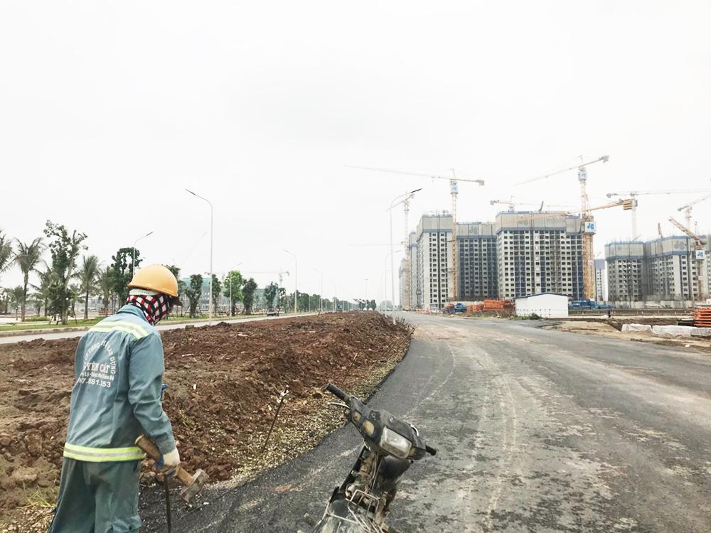 Sau 8 tháng xây dựng, dự án đã hình thành diện mạo. Đường nội bộ được hoàn thiện cơ bản.