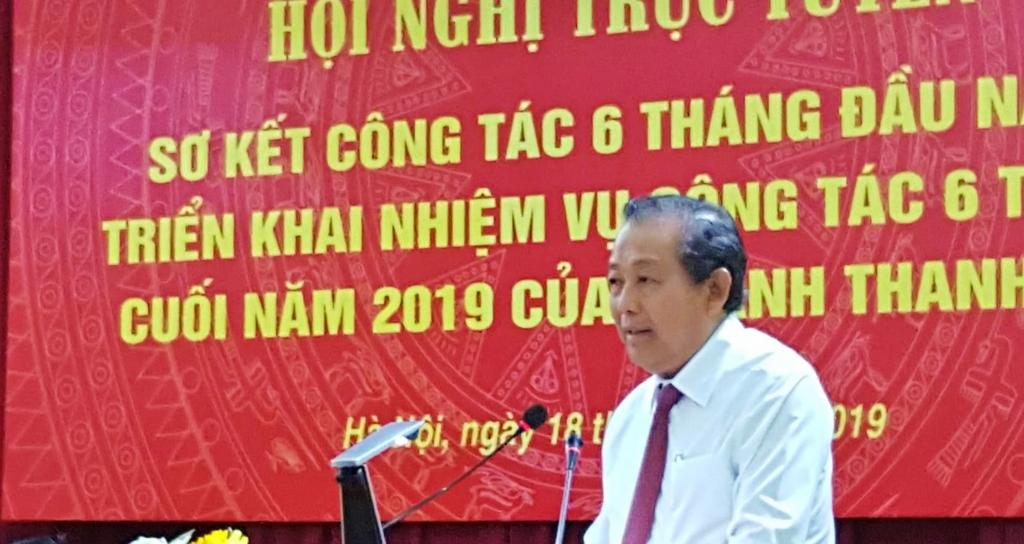 Phó Thủ tướng Trương Hoà Bình phát biểu chỉ đạo Hội nghị. Ảnh: LS