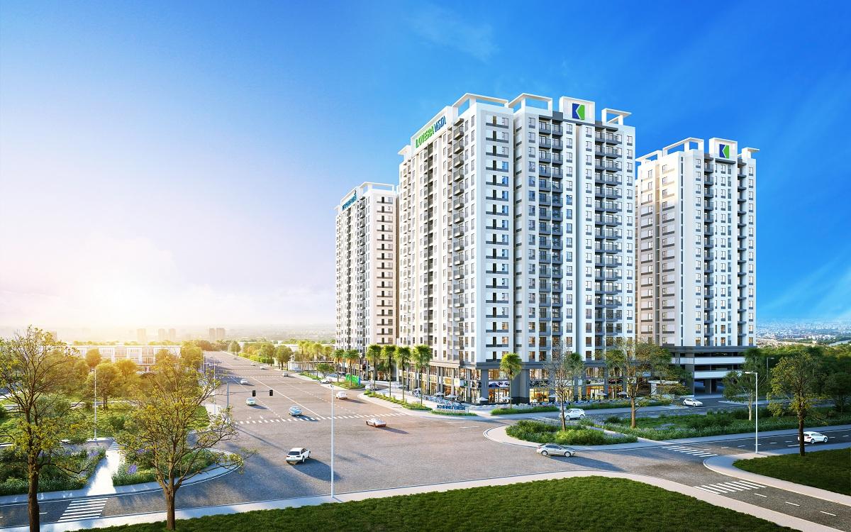 Lovera Vista có diện tích toàn khu hơn 1,8ha, gồm 5 tòa tháp, với 1.310 căn hộ, giá dự kiến chỉ từ 1.5 tỷ đồng/căn 2 phòng ngủ (chưa VAT), mở bán chính thức vào tháng 10/2019.