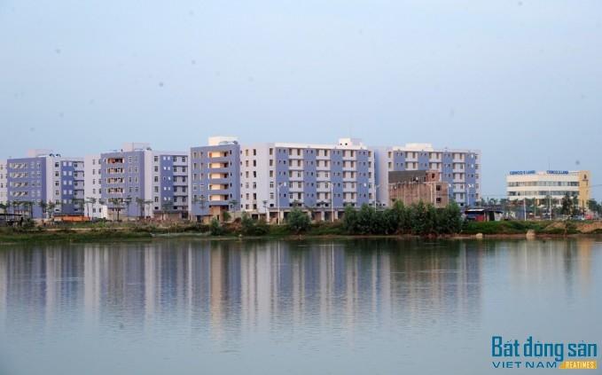 Hồ điều hòa tại Khu đô thị Thanh Hà.