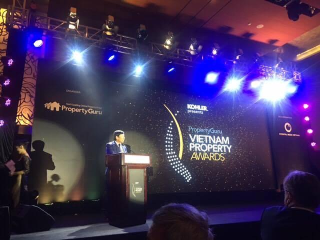 TS. Phan Hữu Thắng, Phó Chủ tịch Hiệp hội BĐS Việt Nam phát biểu tại Lễ trao giải.
