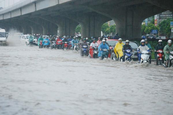 Cảnh báo những điểm ngập lụt khu vực nội thành Hà Nội