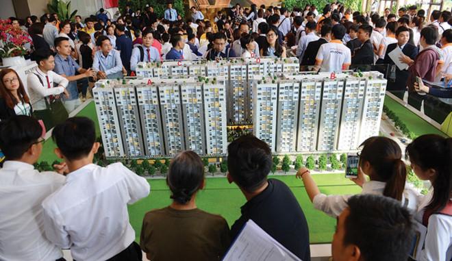 Dự án Him Lam Phú Đông của Him Lam Land tại quận Thủ Đức được cho là giá rẻ, nhưng có giá hơn 1 tỷ đồng/căn. Ảnh: Gia Huy.