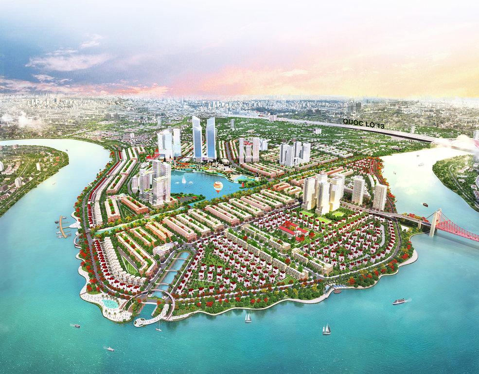 Khu đô thị Vạn Phúc sở hữu môi trường sinh thái rộng lớn kết hợp vị trí ngay trong nội thành.