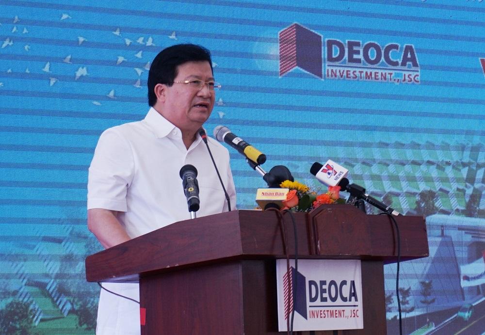 Phó Thủ tướng Trịnh Đình Dũng phát biểu tại lễ thông hầm Đèo Cả.