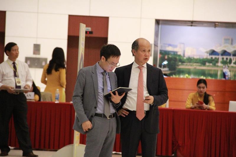 Ông Nguyễn Trần Nam, Trưởng Ban Tổ chức và Nhà báo Phạm Nguyễn Toan, Tổng Biên tập Tạp chí điện tử Bất động sản Việt Nam.