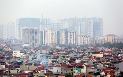 Một số chủ đầu tư dự án chung cư tại thị trường Hà Nội đang gặp không ít khó khăn trong việc bán hàng. Ảnh: Ngọc Thành.