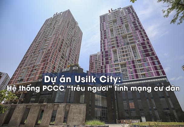 Theo phản ánh của các hộ dân sống ở Cụm CT1 dự án Usilk City thì họ đã chuyển về đây sống hơn 3 năm nay nhưng hệ thống PCCC thì vẫn chưa được hoàn thành.