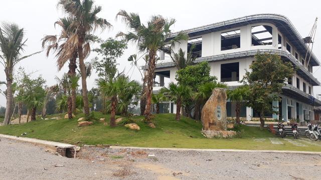 Nhiều hạng mục dự án khu du lịch nghỉ dưỡng sinh thái Hải An xây dựng khi chưa được cấp phép. Ảnh: N.Hưng