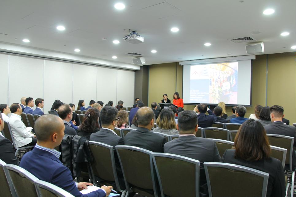Hội nghị thu hút dự tham dự đông đảo của đại diện chính quyền và doanh nghiệp bất động sản hai nước