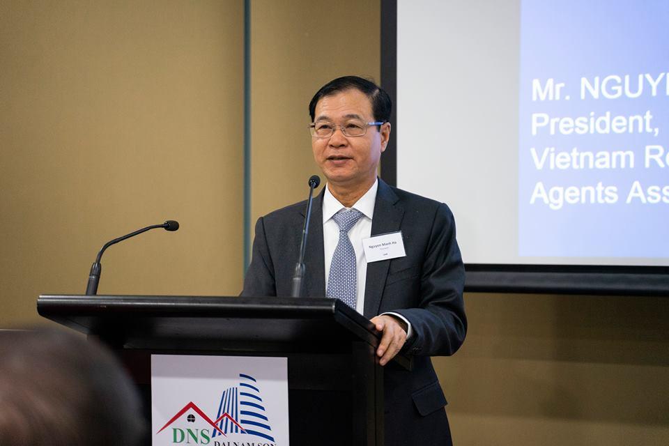 Ông Nguyễn Mạnh Hà – Chủ tịch Hội Môi giới BĐS Việt Nam tại Hội nghị