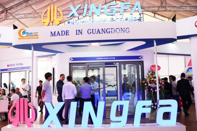 Gian hàng ấn tượng của nhôm Xingfa tại Triển lãm Quốc Tế Vietbuild Hà Nội 2019
