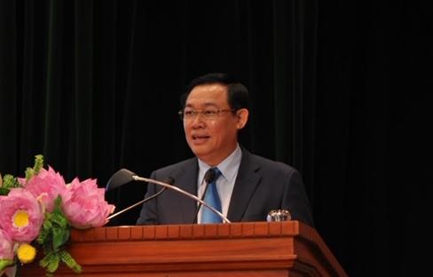 Phó Thủ tướng Vương Đình Huệ phát biểu tại hội thảo. Ảnh VGP/Thành Chung