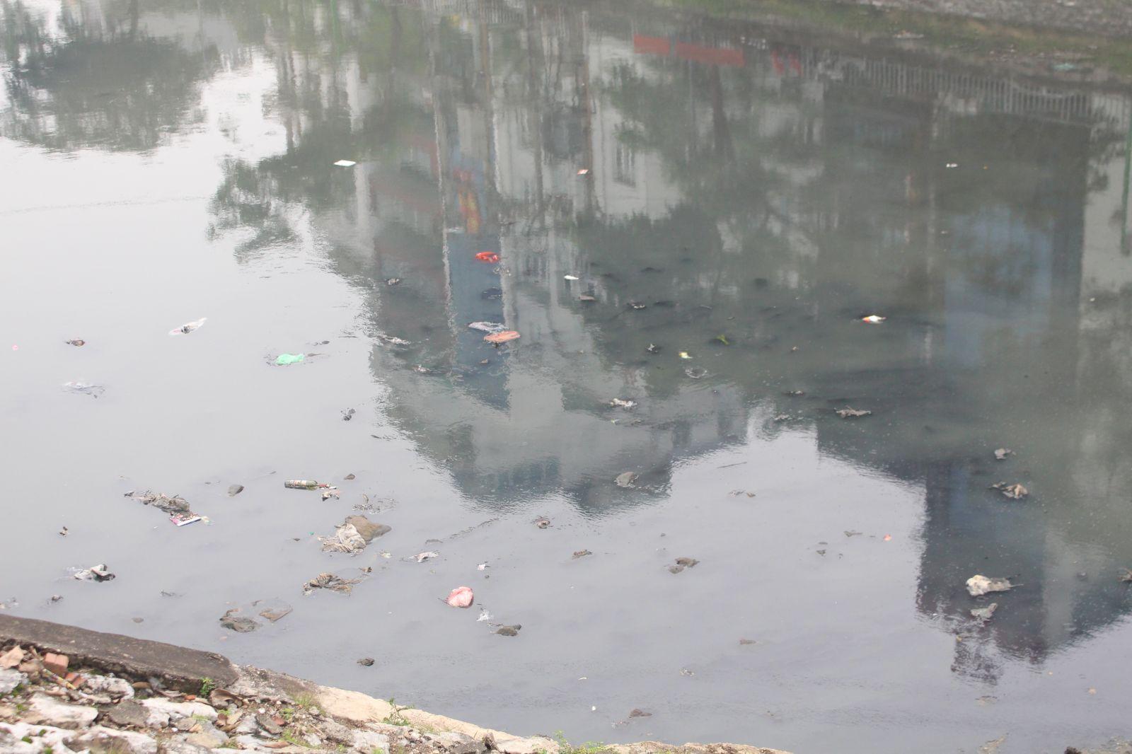 Sông Tô Lịch vẫn phải hứng chịu các rác thải như vỏ chai, túi nilon… điều này khiến sông bị ô nhiễm và bốc mùi khó chịu.