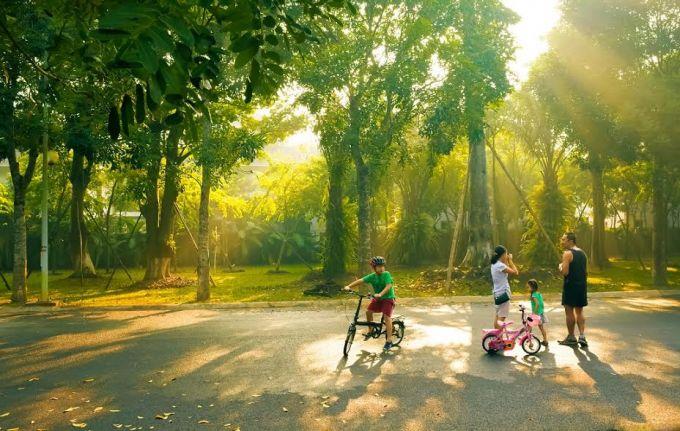 Cư dân Ecopark rất hài lòng với môi trường sống.