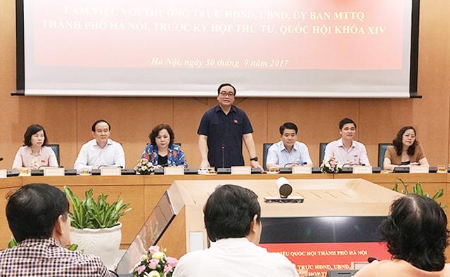 Hà Nội tiếp tục đề xuất không sáp nhập Sở Quy hoạch - Kiến trúc, Xây dựng và Giao thông Vận tải