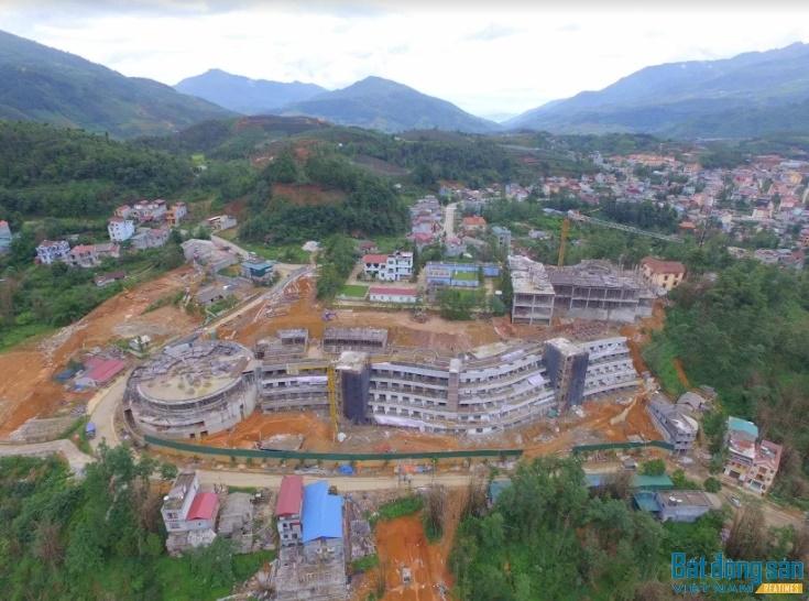 Hình ảnh dự án trong quá trình xây dựng.