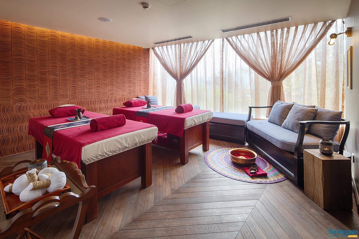Không gian spa tại khách sạn.