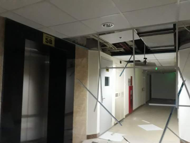 Hiện trường sự việc trần nhà chung cư Gemek Tower đổ sập ngày 6/6.