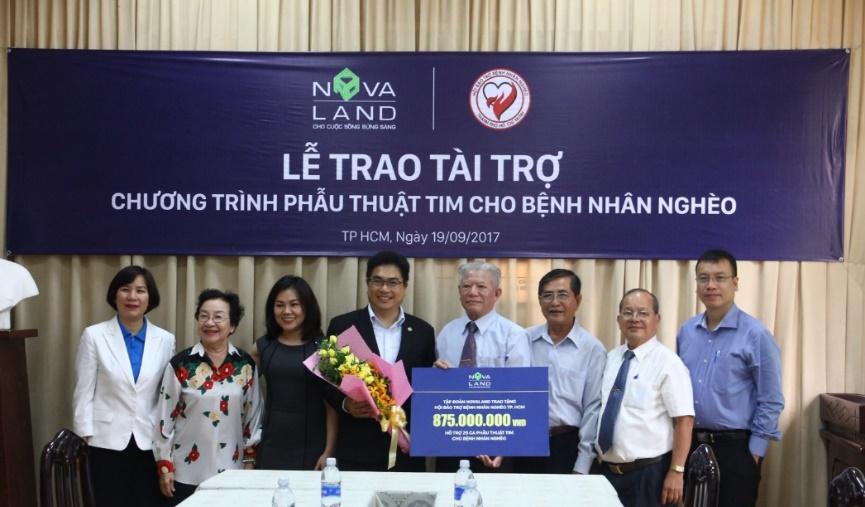 Novaland hỗ trợ phẫu thuật tim miễn phí thông qua Hội Bảo trợ bệnh nhân nghèo TP.HCM