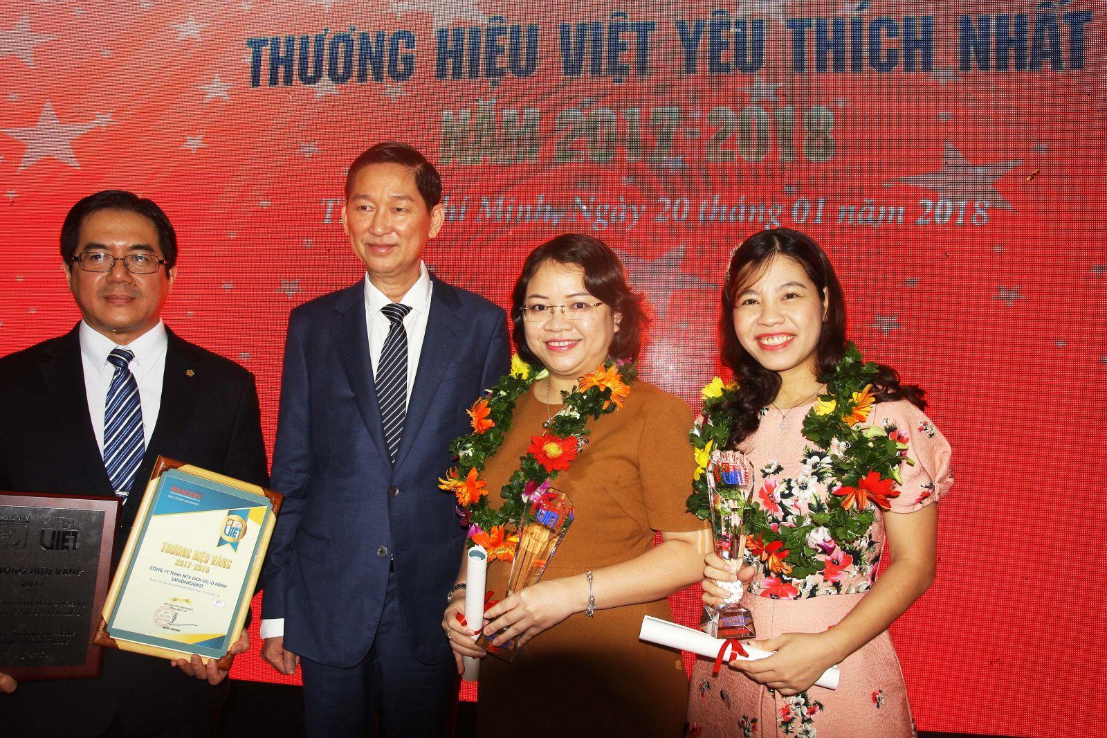 Khang Điền vinh dự nhận giải thưởng uy tín, thương hiệu Việt được yêu thích nhất năm 2017