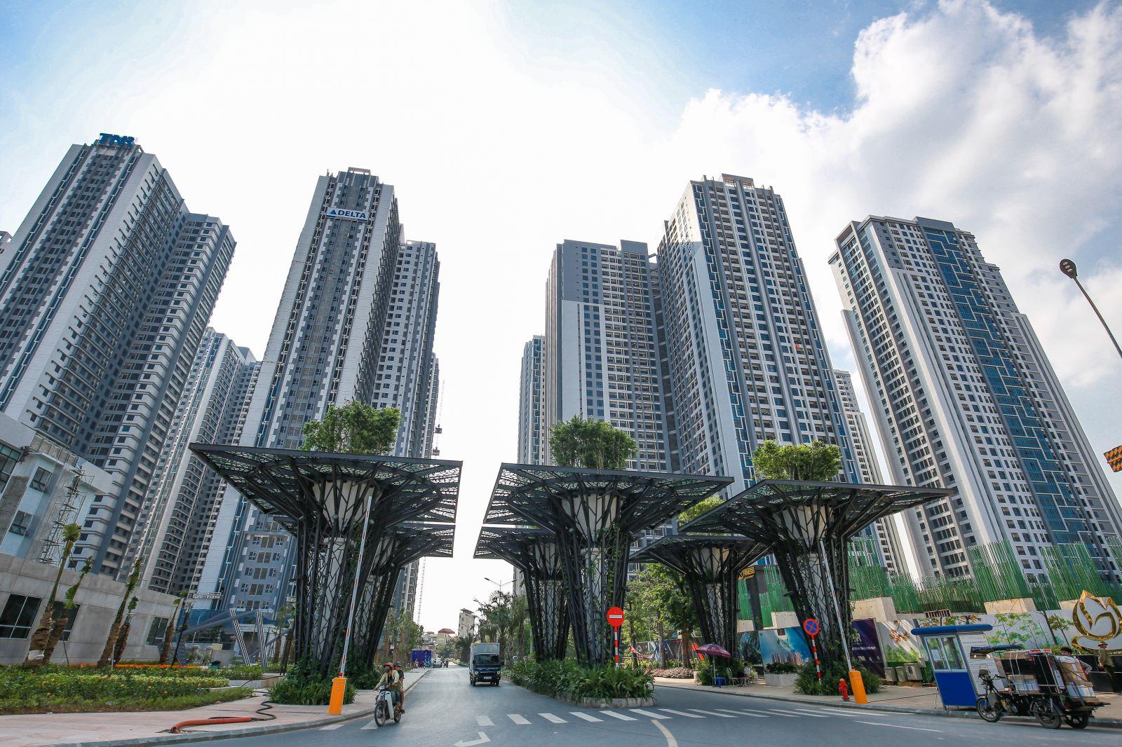 (Ảnh: Dự án Goldmark City của chủ đầu tư TNR đặc biệt được chú trọng thiết kế cảnh quan)