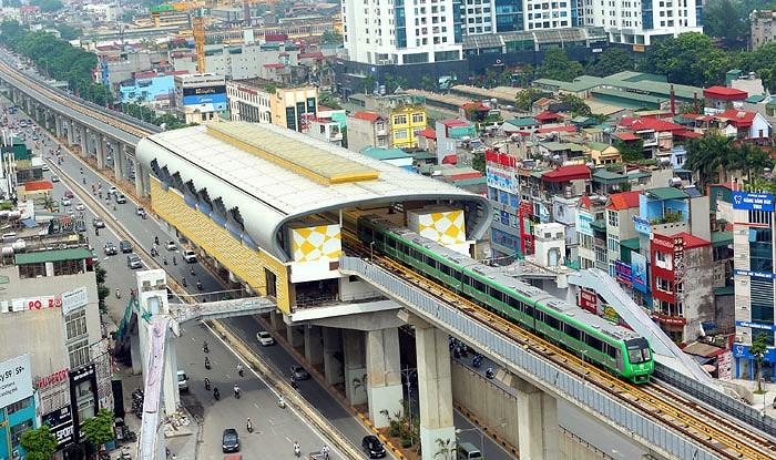 Đường sắt đô thị 2A Cát Linh - Hà Đông có chiều dài 13,5km.