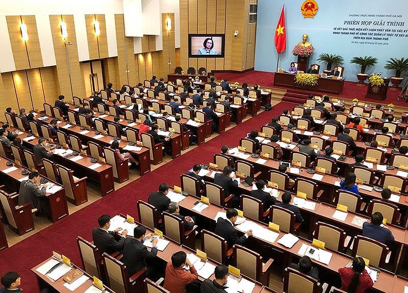 HĐND TP Hà Nội đang tiến hành phiên giải trình.