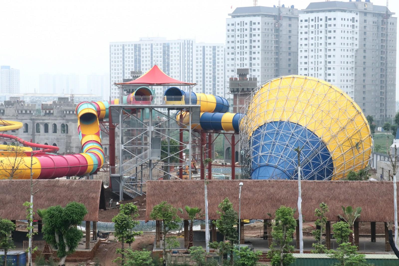 Toàn cảnh công viên nước Thanh Hà