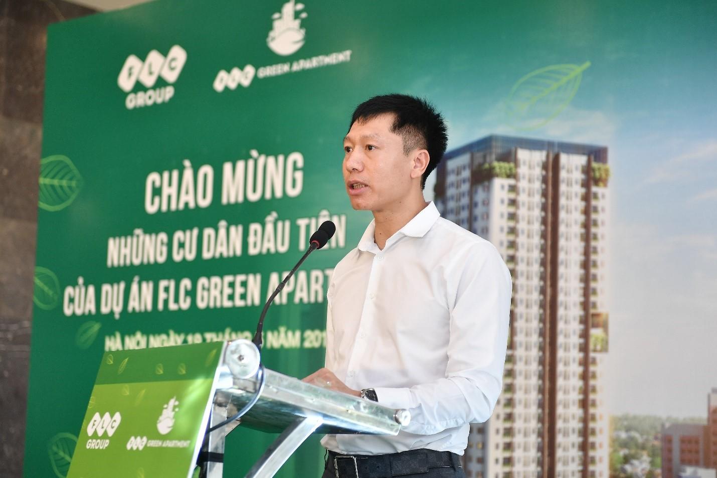 Ảnh 1: Đại diện chủ đầu tư - ông Nguyễn Thiện Phú phát biểu tại sự kiện
