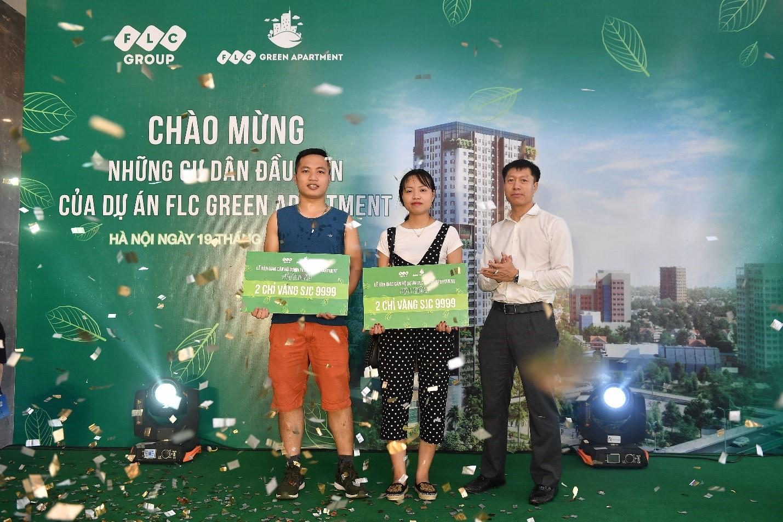 Khách hàng được tặng 2 chỉ vàng khi đặt mua căn hộ FLC Green Apartment ngay trong ngày bàn giao căn hộ
