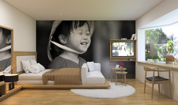 Căn hộ studio có diện tích hẹp nhưng được tính toán cẩn thận, bố trí nội thất hợp lý.