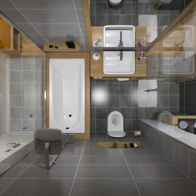 Toilet nằm sau bức tường của căn phòng, nhỏ mà tiện dụng.