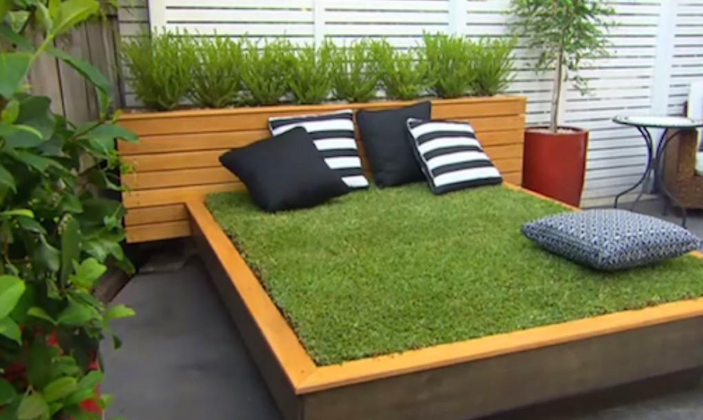 Cách làm một chiếc giường cỏ xanh cho sân vườn