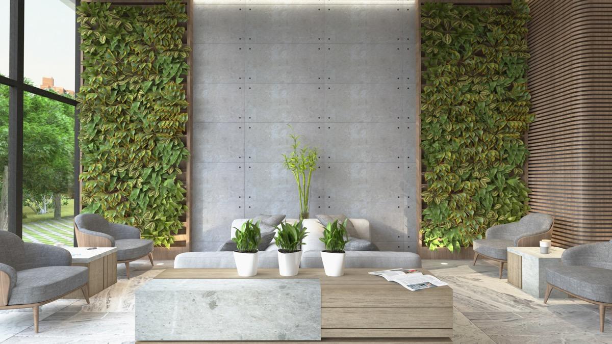 """Tường bê tông cho phòng khách, ý tưởng """"điên rồ"""" nhất trong thiết kế nội thất"""