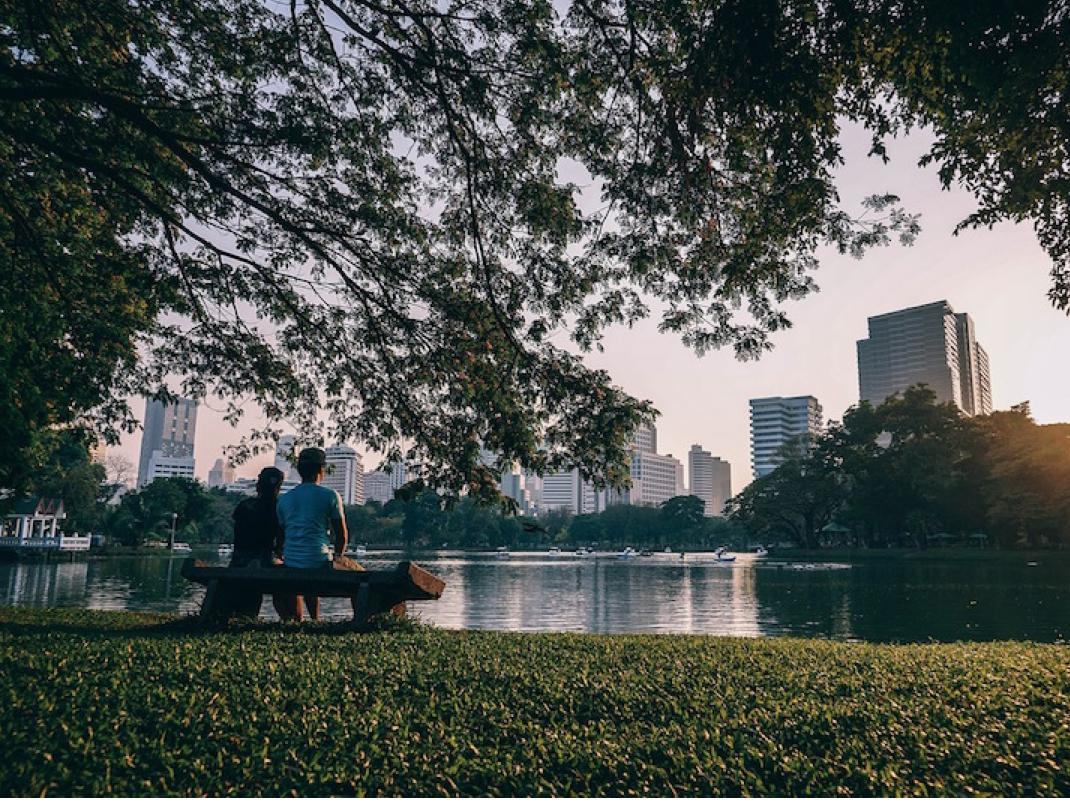 Hình ảnh BangKok nhìn từ Công viên thành phố Lumphini Park. (Pixabay)