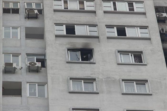 Cháy ở tầng 21, chung cư Văn Khê, Hà Nội