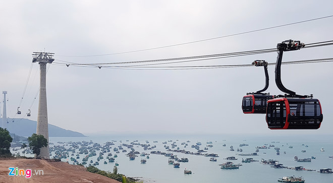 Phú Quốc đã đưa vào vận hành cáp treo dài nhất thế giới. Ảnh: Việt Tường.