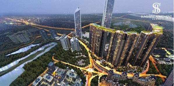 """Sunshine City, dự án """"Nhà ở hạng sang tốt nhất Việt Nam 2018"""" (Best Luxury Landed Development - do DOT Property Vietnam bình chọn) chinh phục khách hàng và giới chuyên gia không chỉ bởi độ """"khủng"""" về quy mô, tầm cỡ, mà còn thể độ """"chịu chơi"""" của chủ đầu tư, trong việc quy tụ gần 40 tiện ích đỉnh cao cùng các chi tiết nội thất được mạ vàng tinh xảo."""