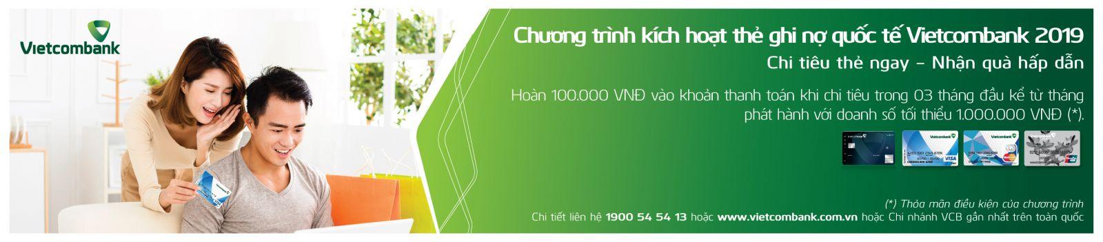 Vietcombank ưu đãi cho chủ thẻ ghi nợ quốc tế