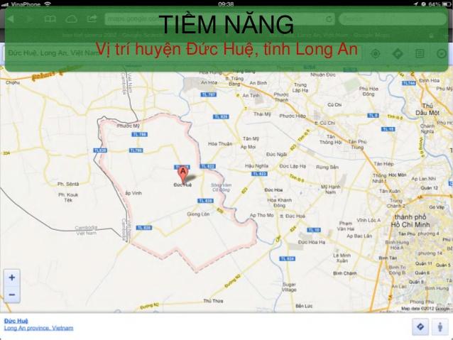 Vị trí địa lý là một lợi thế của huyện