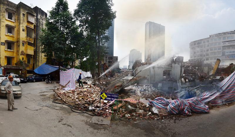 Ô nhiễm bụi từ các công trình xây dựng: Giám sát còn lỏng lẻo