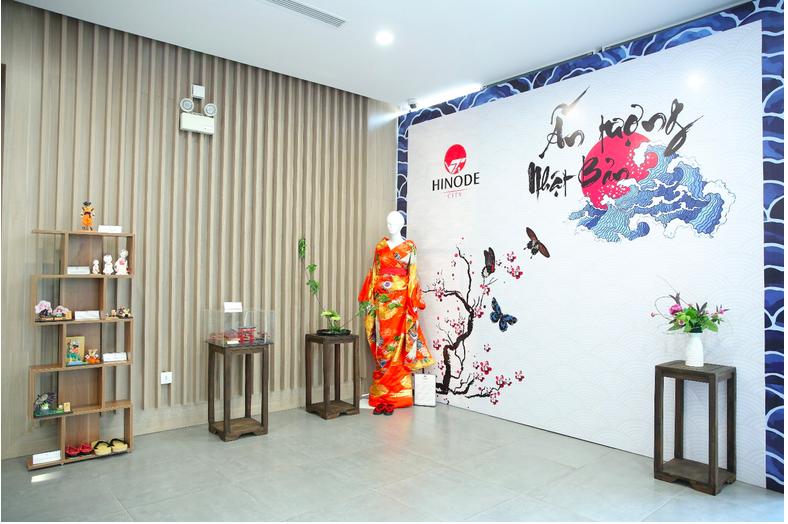 """Khu vực trưng bày những vật phẩm văn hóa Nhật Bản tạo nên """"Ấn tượng Nhật Bản"""" riêng biệt"""