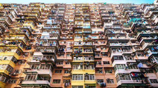 Một khu nhà tập thể ở Hồng Kông