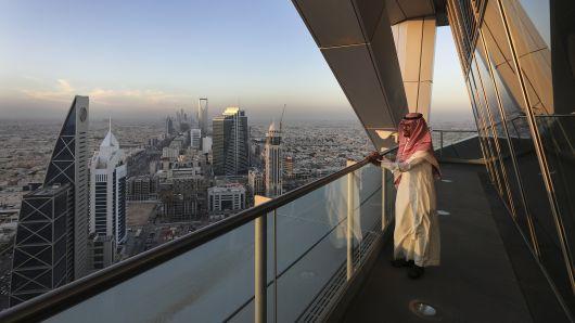 Cảnh tượng nhìn từ tầng 23 của tòa nhà Al Faisaliah tại thủ đô Riyadh của Ả Rập Xê-út